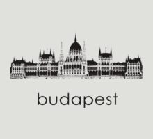 Budapest - Minimalist T-Shirt (light colors only) by CaffeineSpark