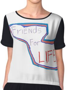 FriEnds For LIFE logo!!! Chiffon Top