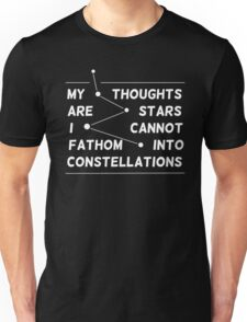 """my thoughts are ""  quote black Unisex T-Shirt"