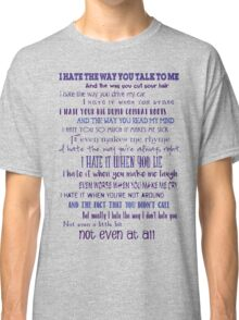 10 Things I Hate About You Classic T-Shirt