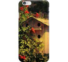 Birdhouse Covered In Honeysuckle iPhone Case/Skin