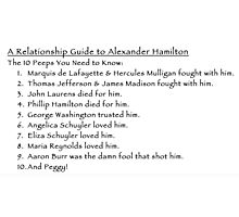 A Relationship Guide to Alexander Hamilton (Version 2) Photographic Print