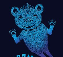 Turquoise Bear Goes Boom by SusanSanford