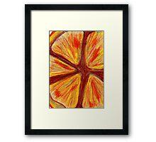 Orange segment Framed Print