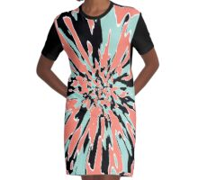 Spring Explosion Graphic T-Shirt Dress