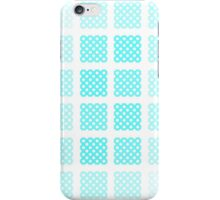 Blue polka-dot hatched phone case iPhone Case/Skin