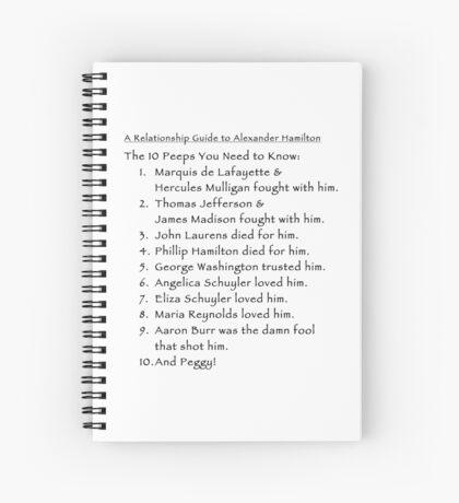 A Relationship Guide to Alexander Hamilton (Version 3) Spiral Notebook