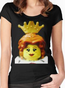 Lego Queen minifigure Women's Fitted Scoop T-Shirt