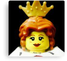 Lego Queen minifigure Canvas Print