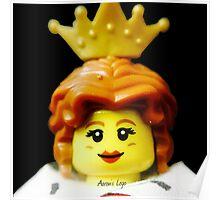 Lego Queen minifigure Poster
