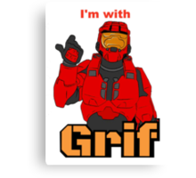 I'm with Grif Canvas Print