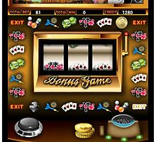 Las Vegas slot machine by KpncoolDesigns