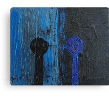 Round head series 2 in blue and black Canvas Print
