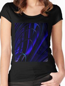BLUE RING ABSTRACT Women's Fitted Scoop T-Shirt