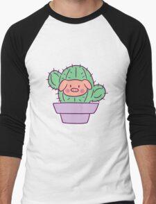 Pig Face Cactus Men's Baseball ¾ T-Shirt