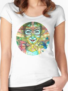 She Thought She Was Small and Trapped, but She Was Not. Women's Fitted Scoop T-Shirt