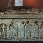 C5 BC Etruscan Limestone Sarcophagus, Vatican Museum Rome Italy 19840723 0012  by Fred Mitchell