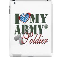 I Love My Army Soldier iPad Case/Skin