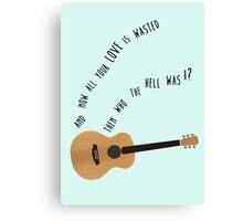 Bon Iver guitar Canvas Print