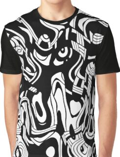 black and white abstract  Graphic T-Shirt