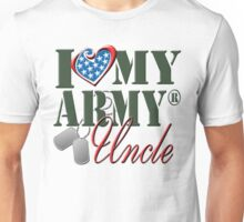 I Love My Army Uncle Unisex T-Shirt
