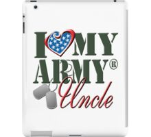 I Love My Army Uncle iPad Case/Skin