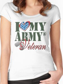I Love My Army Veteran Women's Fitted Scoop T-Shirt