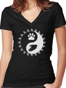 Universal Animal Rights Women's Fitted V-Neck T-Shirt