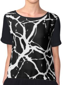 Black and white abstract 4 Chiffon Top