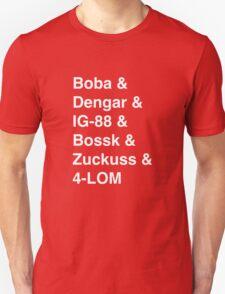 Bounty Hunter List Unisex T-Shirt
