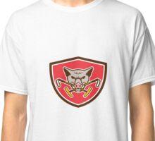 Wild Hog Head Crossed Polo Mallet Crest Retro Classic T-Shirt