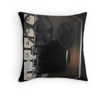 Vintage Film Reel Pillow Throw Pillow