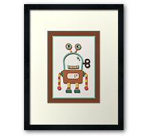 Cute Retro Wind-up Robot Toy Framed Print