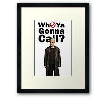Buffy Spike Ghost busters Framed Print