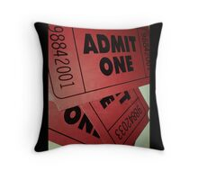 "Film Ticket ""Admit One"" Pillow Throw Pillow"