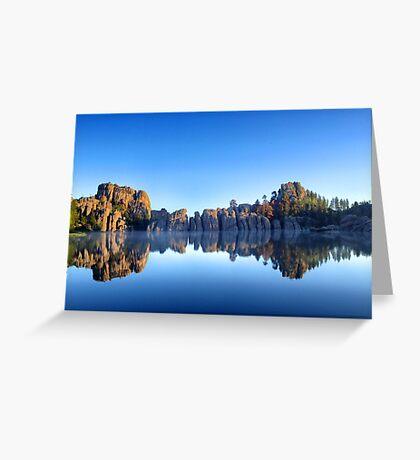 Lake Sylvan Reflection  Greeting Card