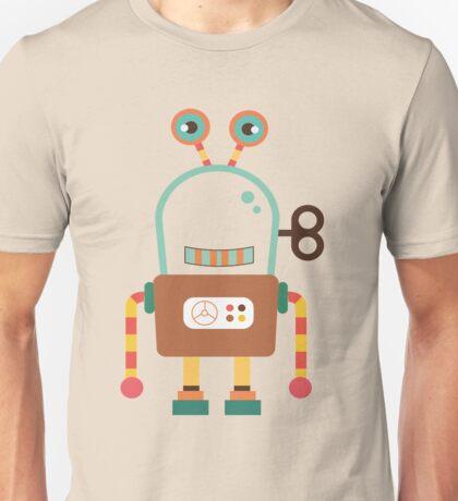 Cute Retro Wind-up Robot Toy Unisex T-Shirt