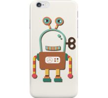 Cute Retro Wind-up Robot Toy iPhone Case/Skin
