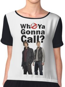 Supernatural Ghost Busters Sam and Dean Chiffon Top