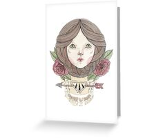 Arrows and Roses Greeting Card