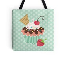 Cherry on Top Cupcake Tote Bag