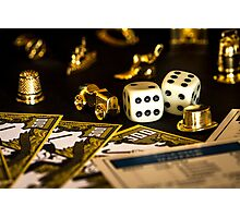 Monopoly Pieces Photographic Print