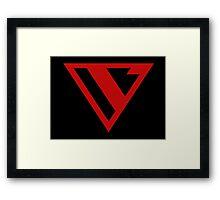 Alternative Logo Minimal Red Framed Print