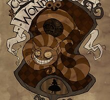 Clockwork Wonderland - Cheshire Cat by Fairytale Illustration