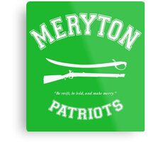 Meryton Patriots - Pride and Prejudice Metal Print