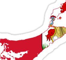 Flag Map of Bermuda Sticker