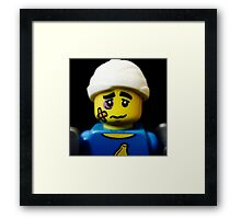 Lego Clumsy Guy minifigure Framed Print
