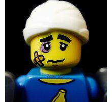 Lego Clumsy Guy minifigure Photographic Print