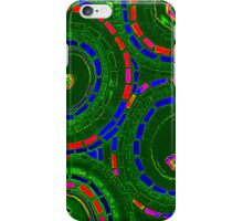 Stained Glass Green Psychedelic Circles - Mosaic Art iPhone Case/Skin