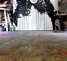 studio with work in progress by Loui  Jover